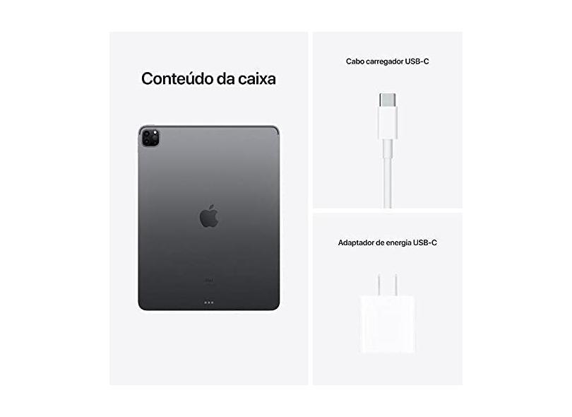 """Tablet Apple iPad Pro 5ª Geração 4G 1024.0 GB Liquid Retina 11.0 """" iPadOS 14"""
