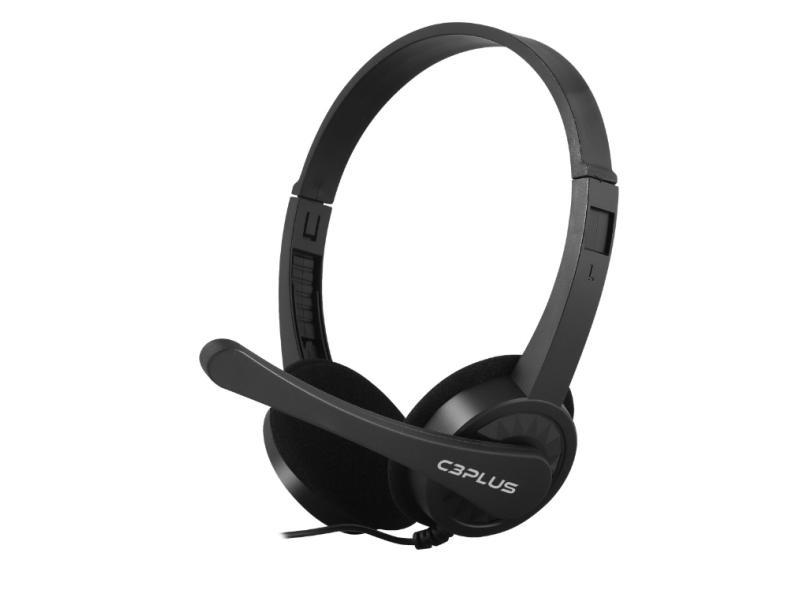 Headset com Microfone C3 Tech C3 PLUS PH-02BK