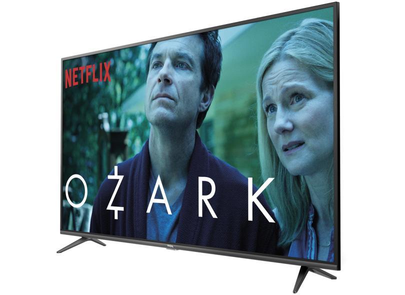 """Smart TV TV LED 65 """" TCL 4K Netflix 65P65US 3 HDMI"""