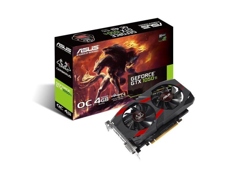 Placa de Video NVIDIA GeForce GTX 1050 Ti 4 GB GDDR5 128 Bits Asus CERBERUS-GTX1050TI-O4G