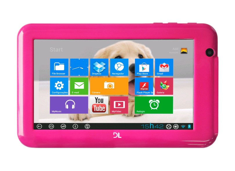 """Tablet DL Smart 7"""" 4 GB Wi-Fi Android 4.0 (Ice Cream Sandwich) HD7 Plus"""