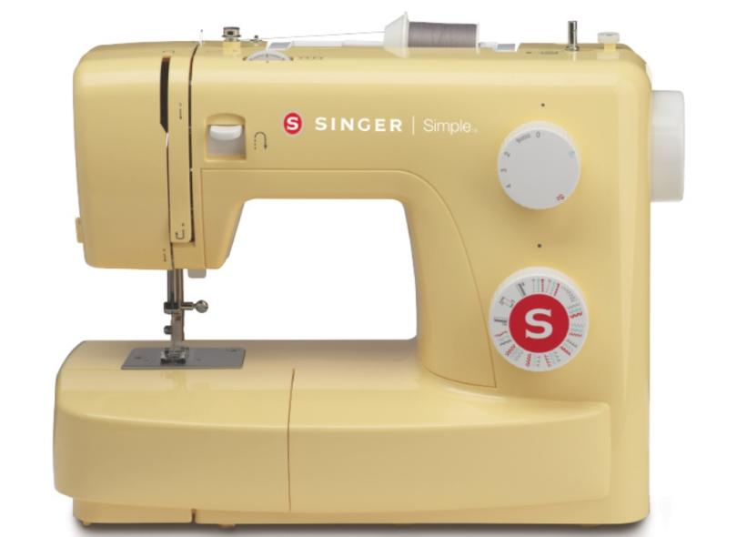 Máquina de Costura Doméstica Ziguezague Ponto Invisível Overloque Simple 3223 - Singer