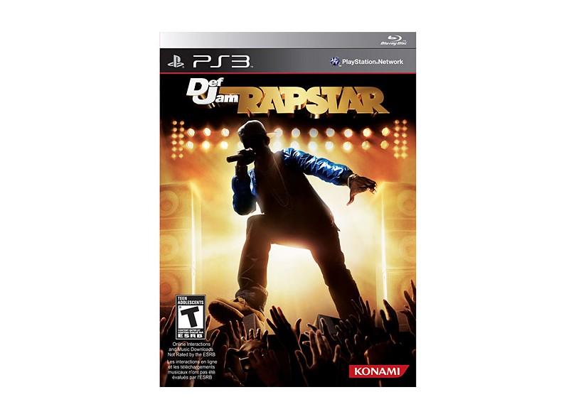 Jogo Def Jam Rapstar Konami PS3