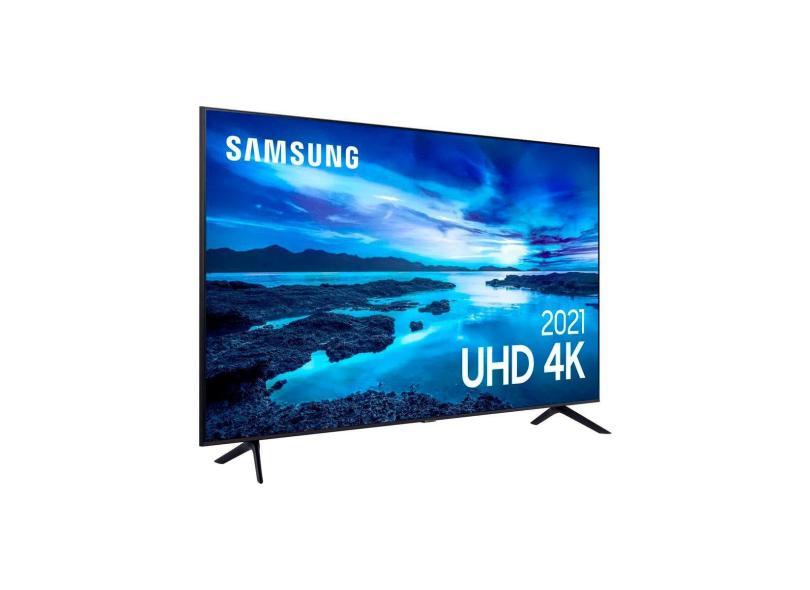 """Smart TV TV LED 50 """" Samsung Crystal 4K HDR 50AU7700 3 HDMI"""