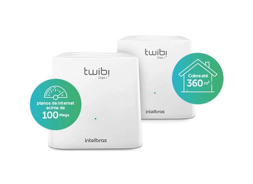 Roteador Mesh Wireless Dual Band Twibi Giga+ - Intelbras