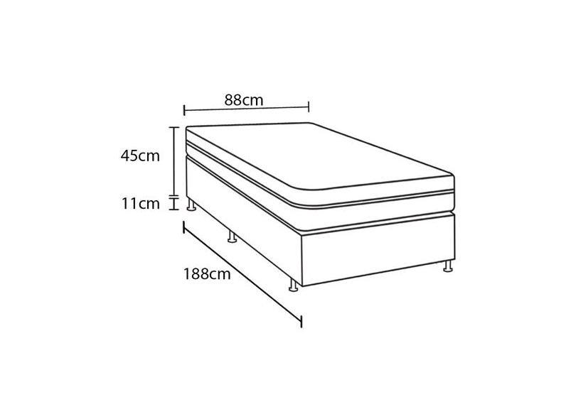 Cama Box Solteiro Nature com Pillow inn 88cm Herval