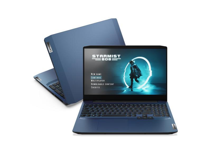 """Notebook Gamer Lenovo IdeaPad Intel Core i7 10750H 10ª Geração 8.0 GB de RAM Híbrido 256.0 GB 15.6 """" Full GeForce GTX 1650 Windows 10 Gaming 3i"""