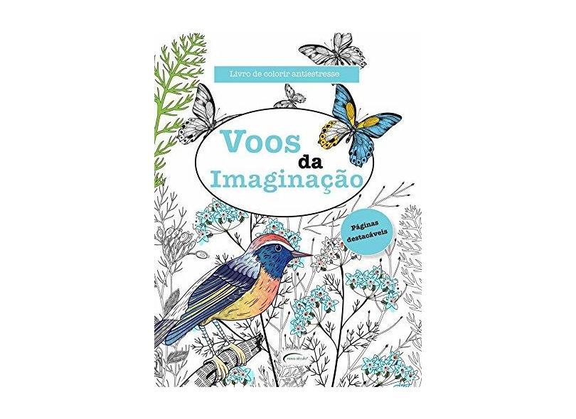 Voos da Imaginação - Livro de Colorir Antiestress - James, Elizabeth - 9788542805673