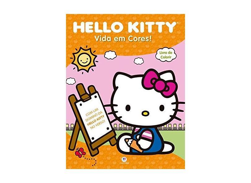 Hello Kitty: Vida em Cores! - Livro Jumbo de Colorir - Ciranda Cultural - 9788538058946