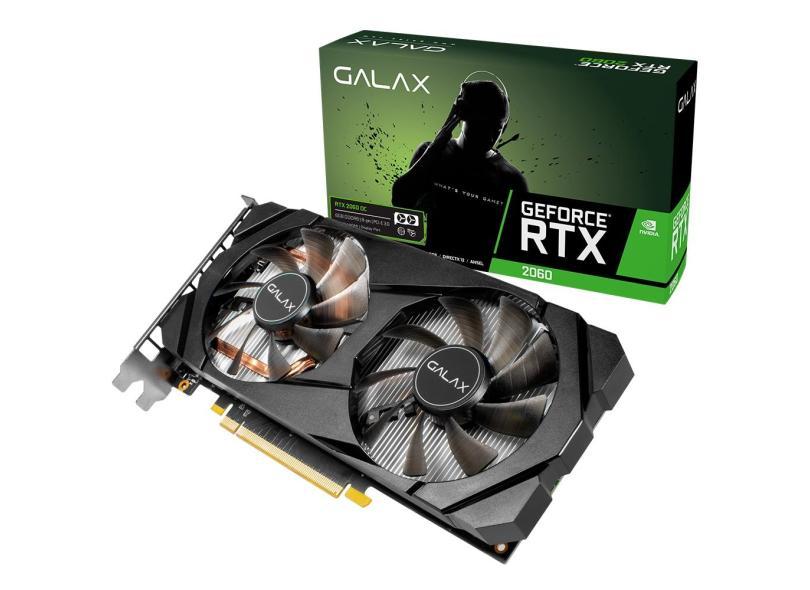 Placa de Video NVIDIA GeForce RTX 2060 6 GB GDDR6 192 Bits Galax 26NRL7HPX7OC