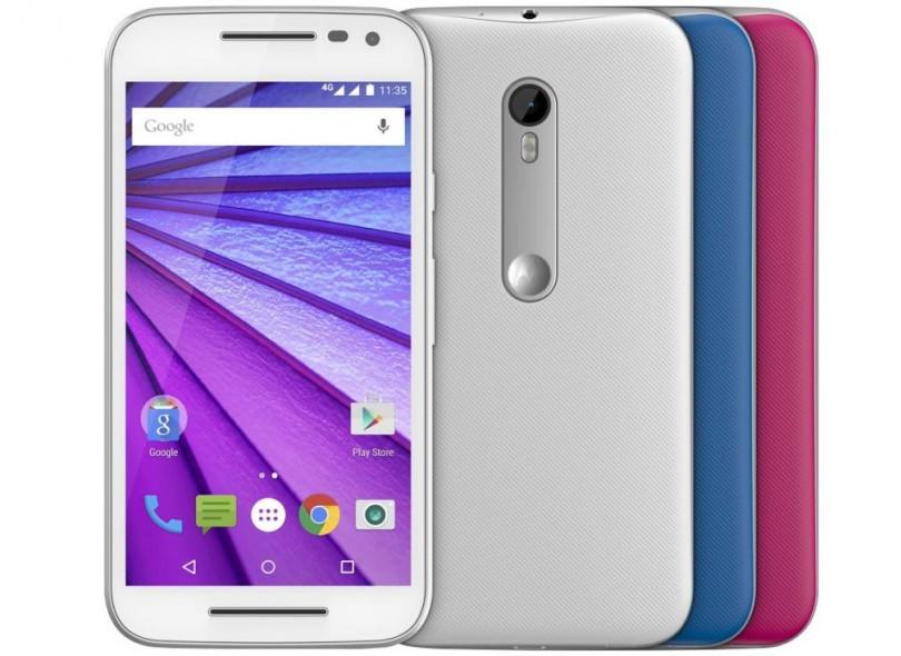 Smartphone Motorola Novo Moto G 3ª Geração DTV Colors XT1544 13,0 MP 2 Chips 16GB Android 5.1 (Lollipop) 3G 4G Wi-Fi