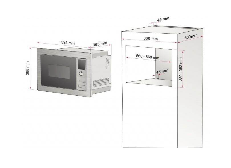 Microondas de Embutir Tramontina 25 Litros 94880 Inox