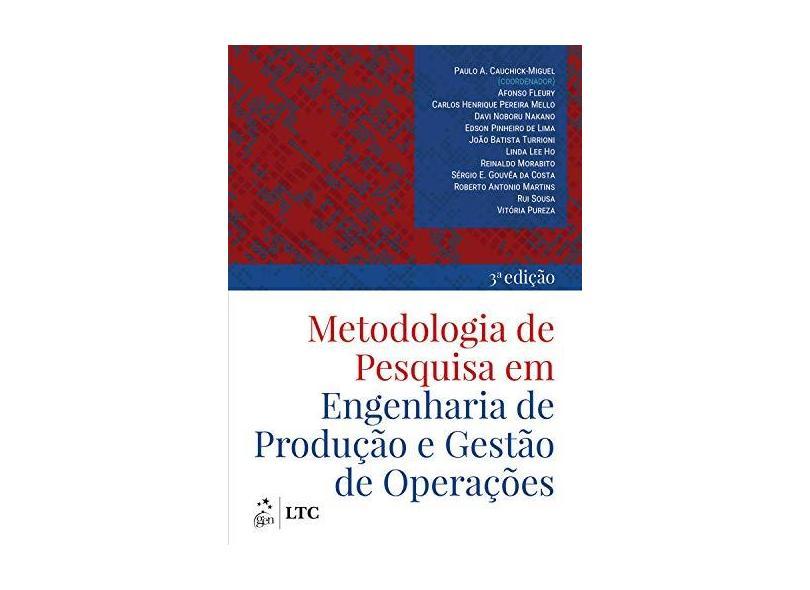 Metodologia De Pesquisa Em Engenharia De Produção E Gestão De Operações - Cauchick,paulo - 9788535291346