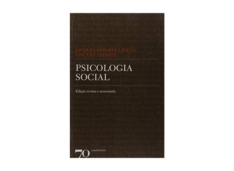 Psicologia Social - Jacques-philippe Leyens - 9789724415406
