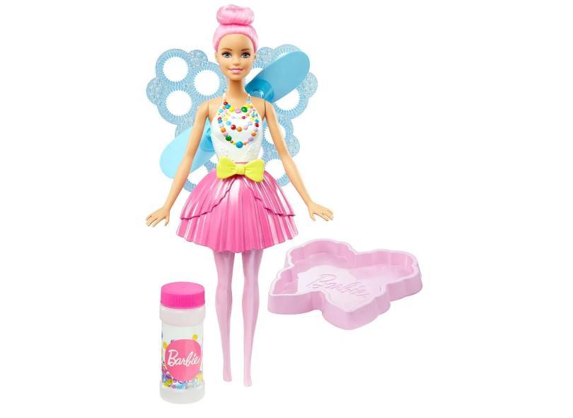 Boneca Barbie Fantasia Fada Bolhas Mágicas Mattel