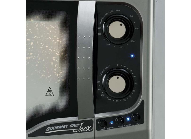 Forno Elétrico Fischer 44 Litros Inox Gourmet Grill