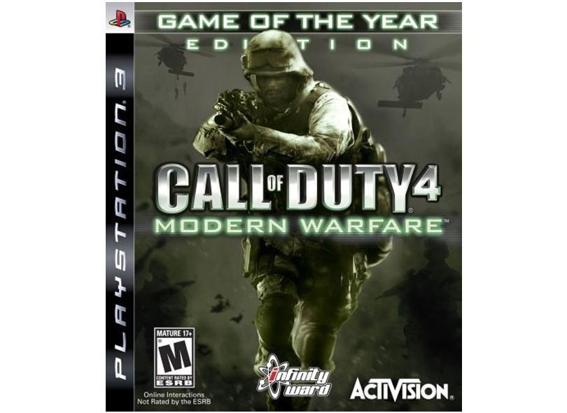 Jogo Call of Duty 4: Modern Warfare Activision PS3