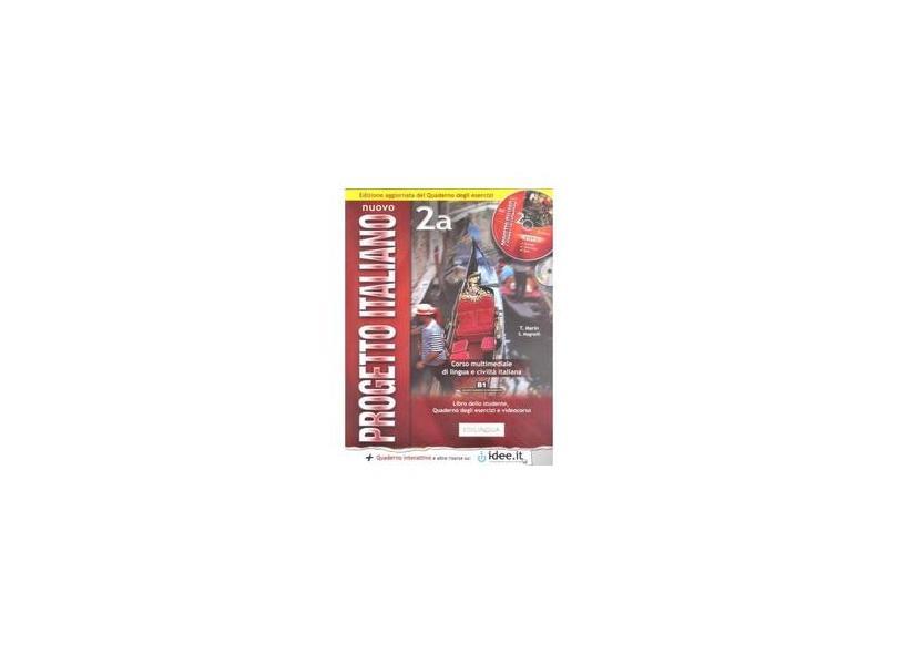 Nuovo progetto italiano. Con CD-Audio. Con CD-ROM: Nuovo Progetto Italiano 2A Podrecznik + cwiczenia + plyta DVD + plyta CD - S. Magnelli - 9789607706751