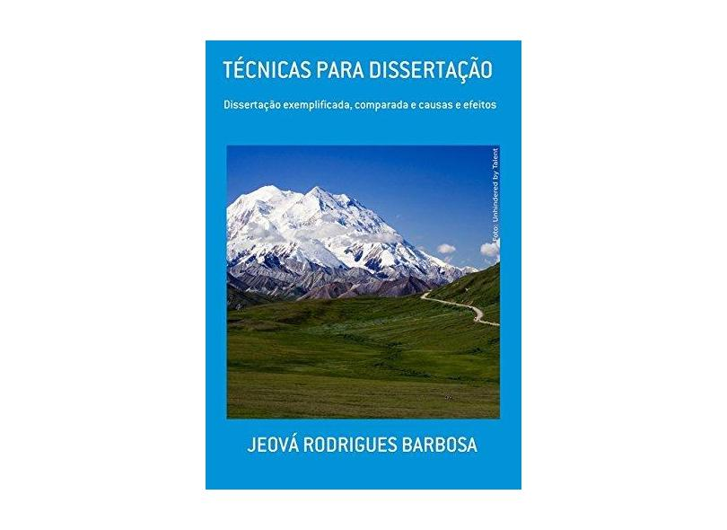 """Técnicas Para Dissertação - """"barbosa, Jeova Rodrigues"""" - 9788592126957"""