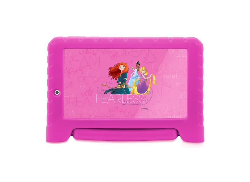 """Tablet Multilaser Quad Core 16.0 GB LCD 7.0 """" Android 8.0 (Oreo) 2.0 MP Disney Princesas Plus NB308"""