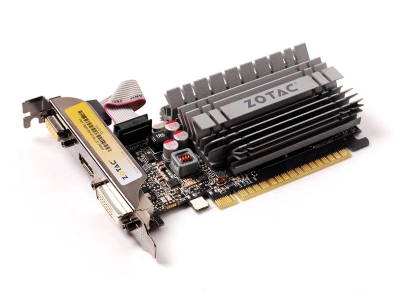 Placa de Video NVIDIA GeForce T 730 4 GB DDR3 64 Bits Zotac ZT-71115-20L