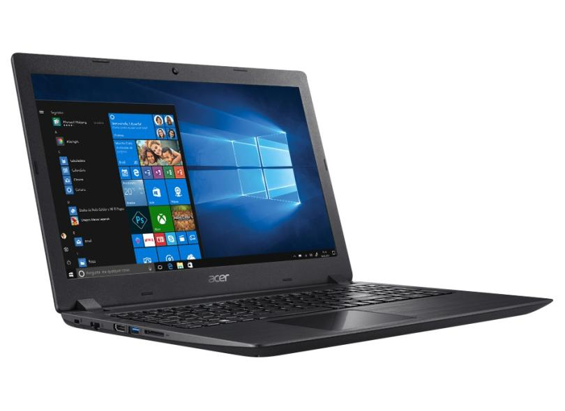 """Notebook Acer Aspire 3 Intel Core i3 8130U 8ª Geração 4 GB de RAM 1024 GB 15.6 """" Windows 10 A315-53-34Y4"""