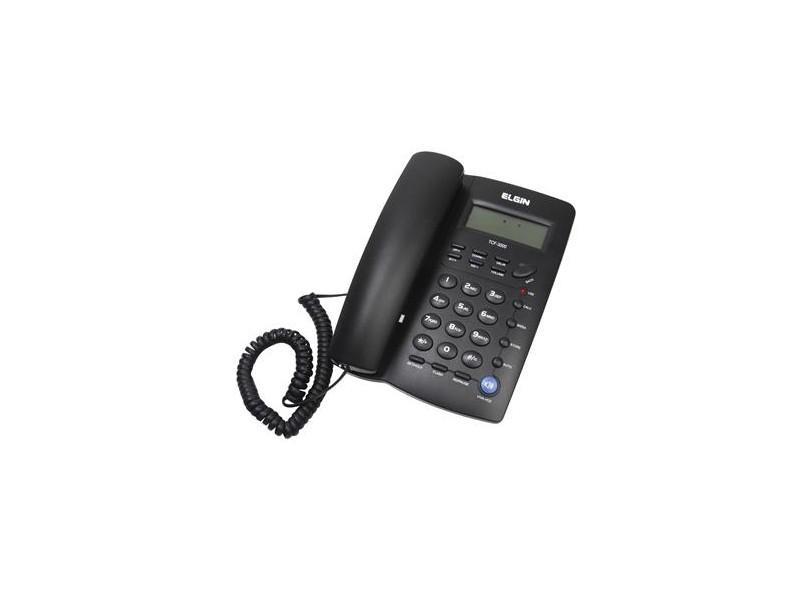 Telefone com fio TCF-3000 Preto.