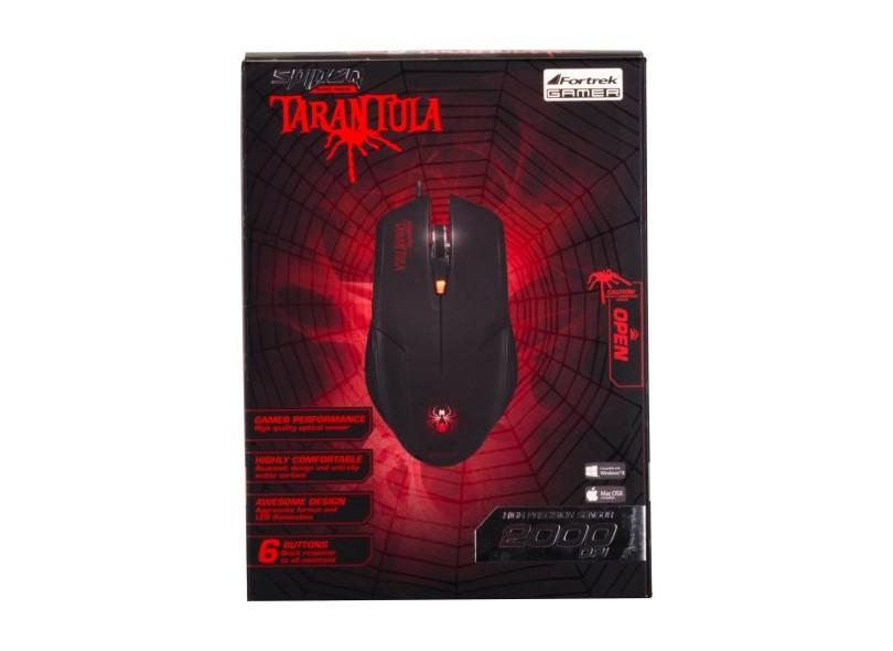 Mouse Óptico USB Tarantula OM702 - Fortrek