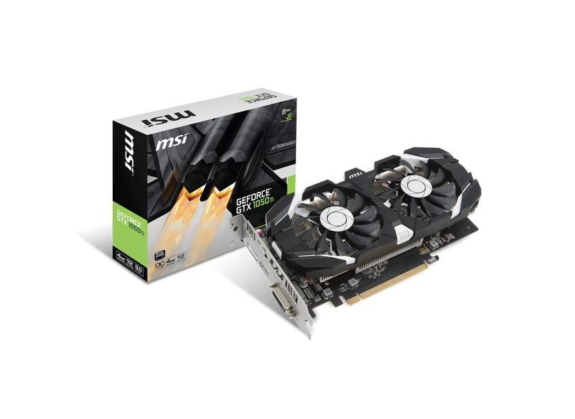 Placa de Video NVIDIA GeForce GTX 1050 Ti 4 GB GDDR5 128 Bits MSI GTX 1050 Ti 4GT OC