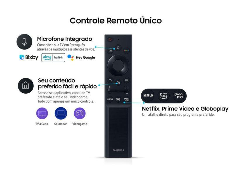 """Smart TV TV LED 55 """" Samsung Crystal 4K HDR 55AU7700 3 HDMI"""