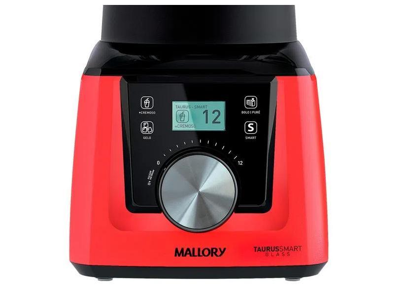 Liquidificador Mallory Taurus Smart Glass 2.3 l 12 Velocidades 1300 W