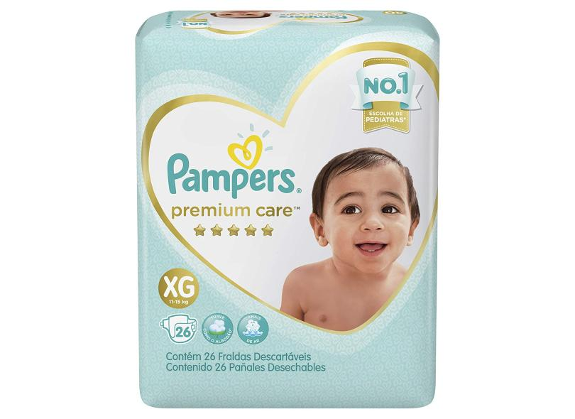 Fralda Pampers Premium Care XG 26 Und 11 - 15kg