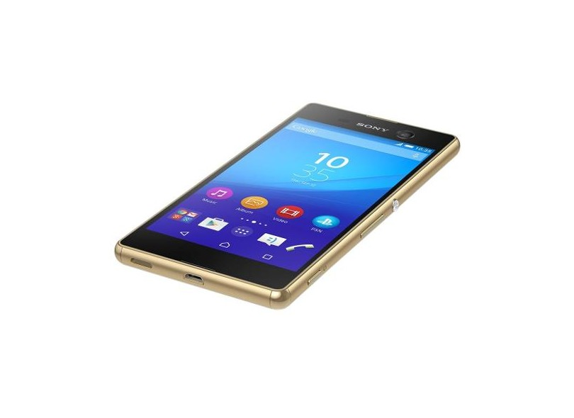 Smartphone Sony Xperia M5 21,5 MP 2 Chips 16GB Android 5.0 (Lollipop) 3G 4G Wi-Fi