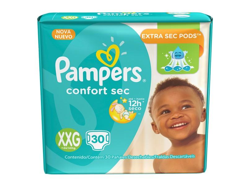 Fralda Pampers Confort Sec XXG Mega 30 Und +14kg