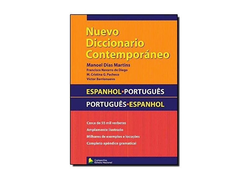 Nuevo Diccionario Contemporáneo - Espanhol - Português / Português - Espanhol - Martins, Manoel Dias - 9788504016215