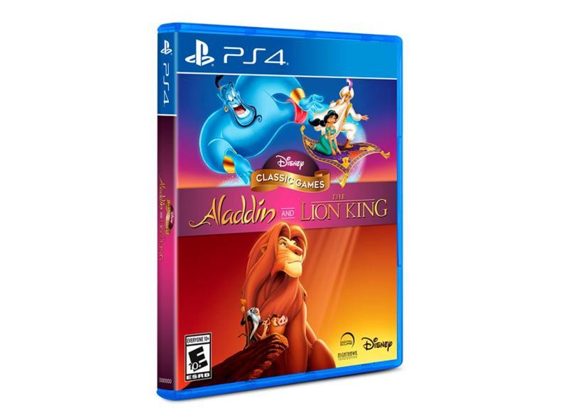 Jogo Disney Classic Games: Aladdin e O Rei Leão PS4 Disney