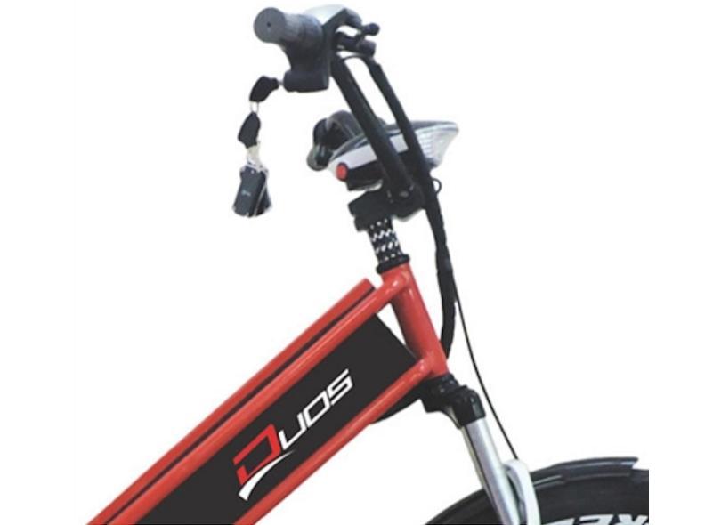 Bicicleta Elétrica Duos Bikes Aro 26 Suspensão Dianteira Freio a Disco Mecânico Confort Full
