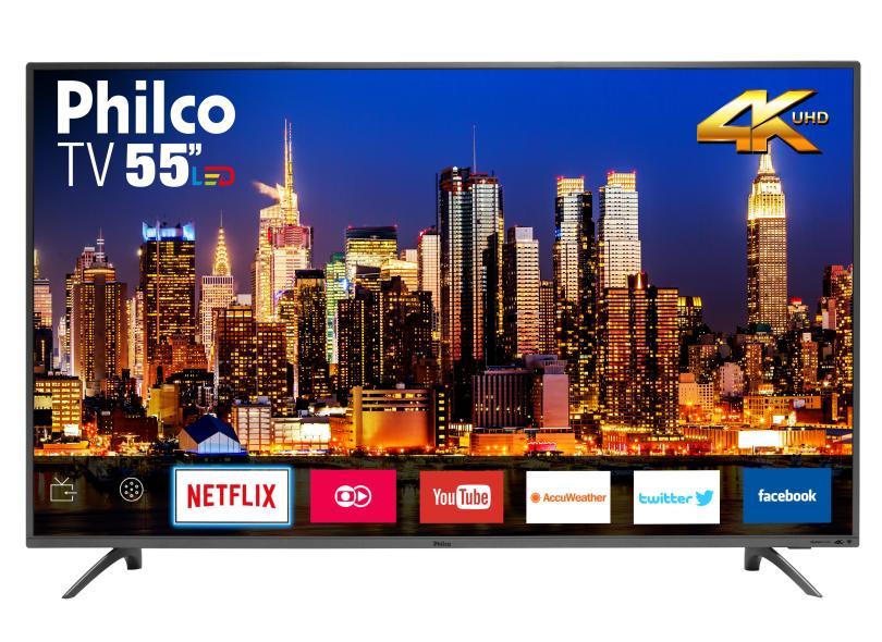 "Smart TV TV LED 55 "" Philco 4K Netflix PTV55F61SNT 3 HDMI"