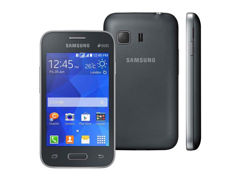 Smartphone Samsung Galaxy Young 2 Duos G130BT 2 Chips 4GB Android 4.4 (Kit Kat) Wi-Fi 3G