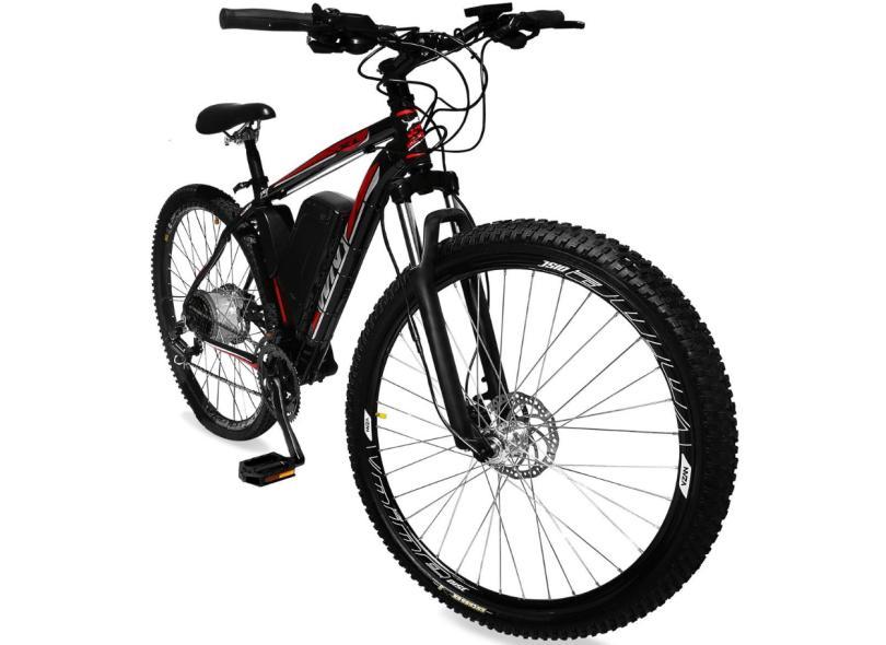 Bicicleta Elétrica TecBike 21 Marchas Aro 29 Suspensão Dianteira a Disco Hidráulico Tec Ultra
