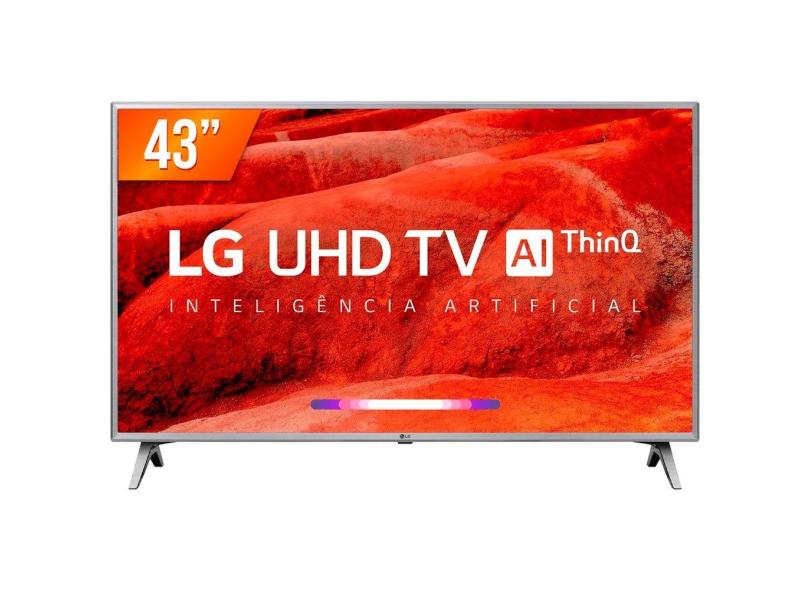 "Smart TV TV LED 43 "" LG ThinQ AI 4K Netflix 43UM751C 4 HDMI"