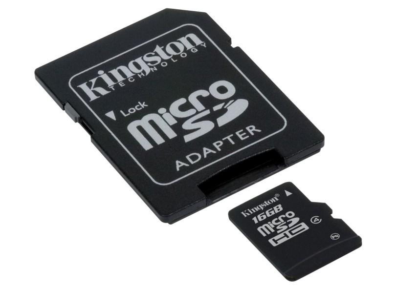 Cartão de Memória Micro SDHC Kingston 16 GB SDC4/16GB