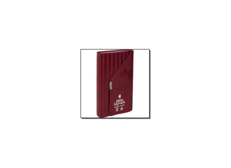 Bíblia Sagrada - Letra Grande com Harpa Cristã. Capa em Couro Sintético. Vermelha - Vários Autores - 7898521815424