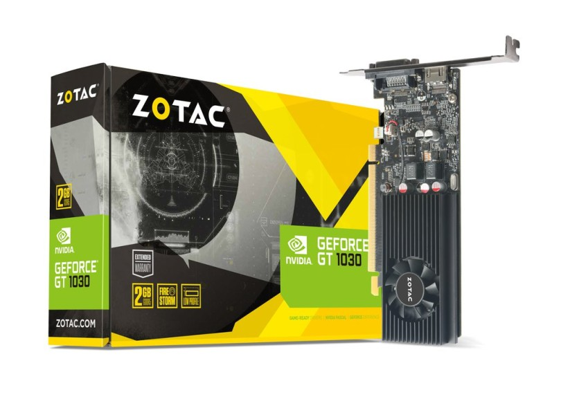 Placa de Video NVIDIA GeForce GT 1030 2 GB GDDR5 64 Bits Zotac ZT-P10300A-10L