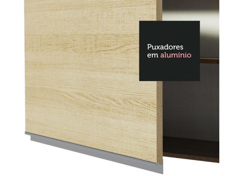 Cozinha Completa 3 Gavetas 10 Portas para Micro-ondas / Forno sem Tampo Atenas Madesa