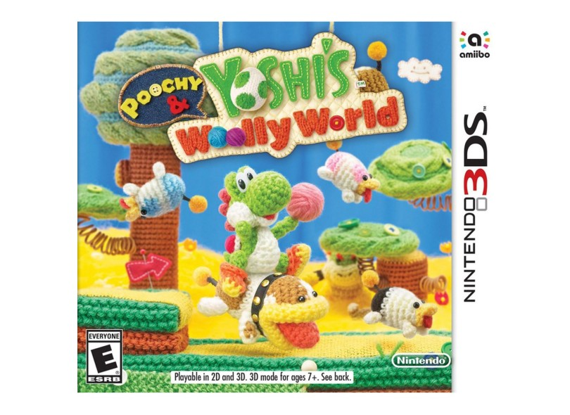 Jogo Poochy & Yoshis Woolly World Nintendo Nintendo 3DS