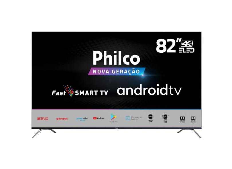 """Smart TV TV LED 82 """" Philco 4K PTV82K90AGIB 4 HDMI"""