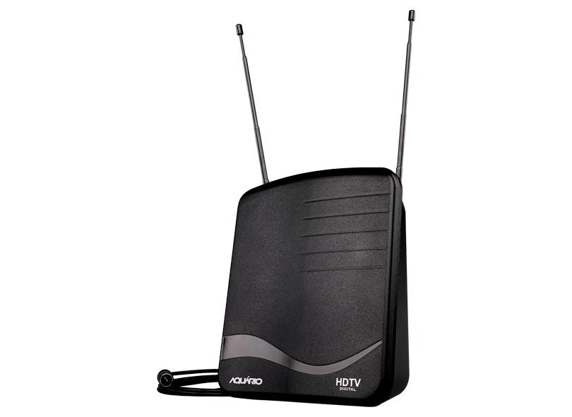 Antena De Tv Radio Interna VHF / UHF / HDTV / FM - Aquário 1100