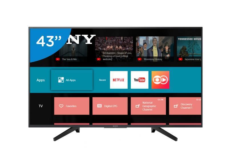 "Smart TV TV LED 43"" Sony 4K Netflix KD-43X705F 3 HDMI"