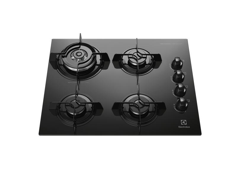 Cooktop Electrolux 4 Bocas Acendimento Superautomático KE4TP